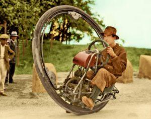 O monociclo motorizado