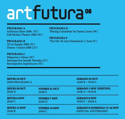Programa da ArtFutura 2008