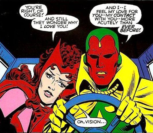 Vision e a Bruxa Escarlata, unha parella de ruliñas
